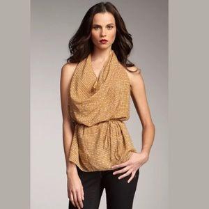 New $225 RACHEL ZOE Silvia Silk Blouse Cowl Neck